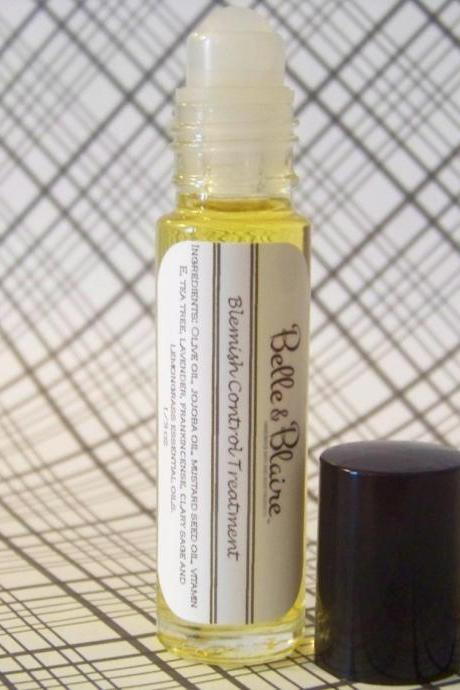 Blemish Control Treatment- Vegan- Plant Based Organic Skin Care- Roll on bottle
