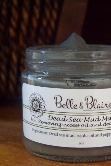 Dead Sea Mud Face Mask- Clay Mask- Facial Mask- Natural Skin Care- Detox Mask- Vegan