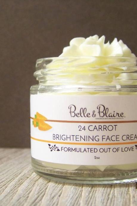 24 Carrot Brightening Facial Cream- Scar Cream- Fade Cream- lightening Cream- Natural Cream- Dull Skin Cream- Hyperpigmentation Cream- Acne